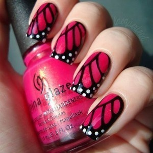 butterflies nails