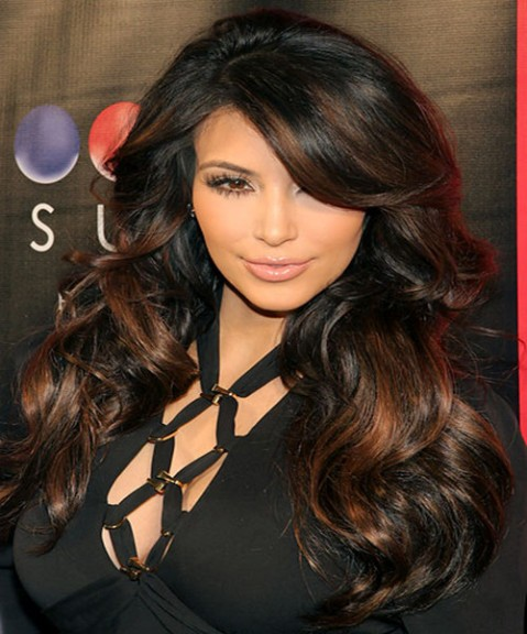 15_KimKardashian hairstyle with bangs