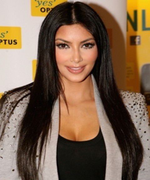 kimkardashian extra long straight hair